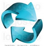 royalty-free-3d-vector-logo-of-aqua-blue-arrows-circling-each-other-by-beboy-163